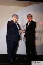 Rich Orcutt (Iovation) receiving the Best New Technology Award at the 2010 iDate Awards