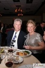 Mr. and Mrs. Ferman with the Best Matchmaker Award at the 2010 iDate Awards