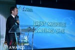 Mark Brooks - Announcing Best Mobile Dating Site Winner for 2012 at the January 24, 2012 Internet Dating Industry Awards Ceremony in Miami