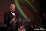 Sam Moorcroft announcing the Best Affiliate Program at the 2013 iDateAwards Ceremony in Las Vegas